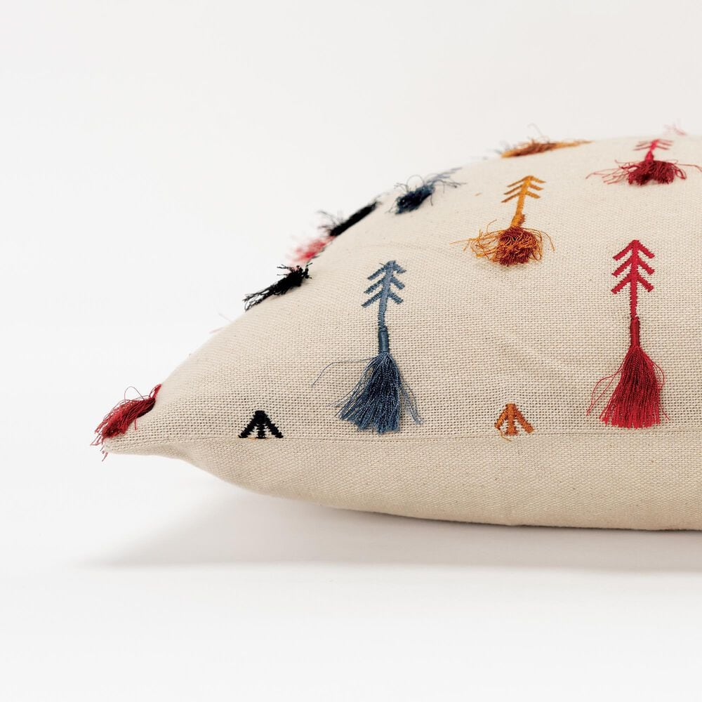 """Rizzy Home Arrow 14"""" x 26"""" Pillow in Natural, , large"""