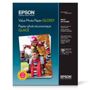 """Epson Value Photo Paper Glossy (8.5 x 11"""", 50 Sheets), , large"""