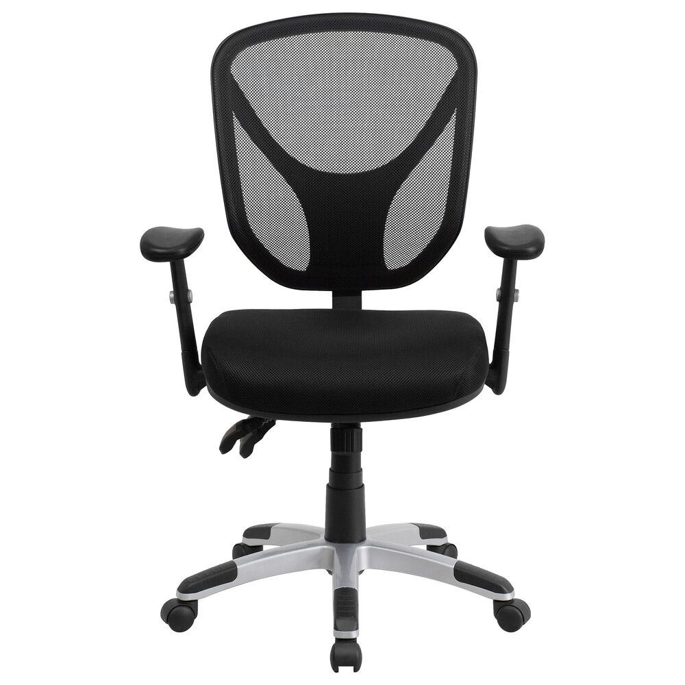 Flash Furniture Swivel Office Chair in Black, , large