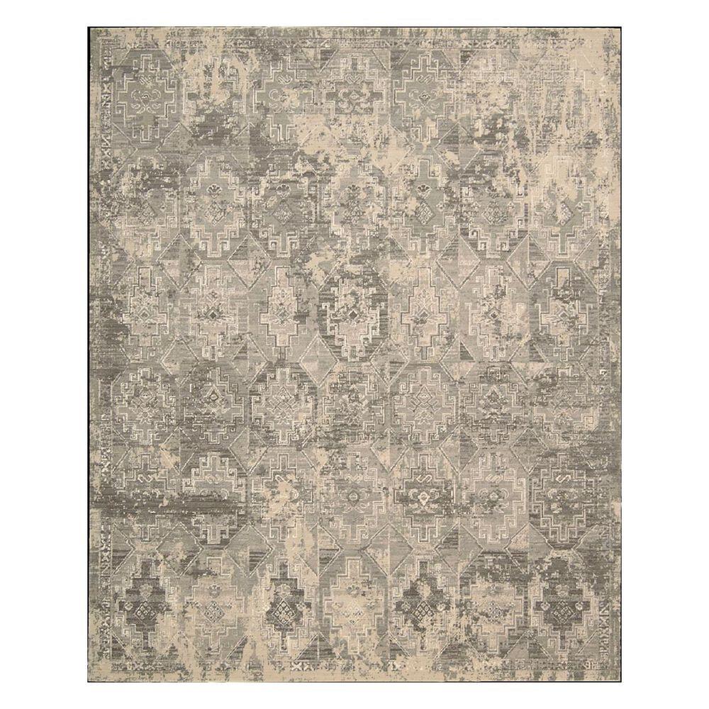 "Nourison Silk Elements SKE19 7'9"" x 9'9"" Mushroom Area Rug, , large"
