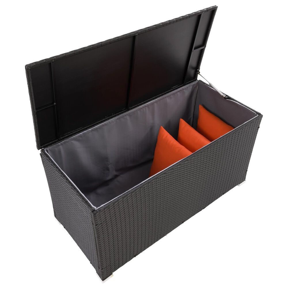 CorLiving Parksville Patio Cushion Box in Black, , large