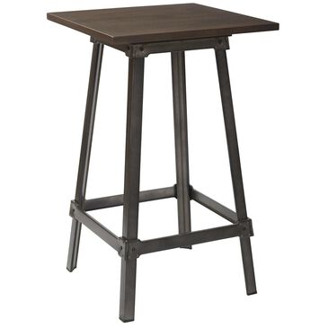 OSP Home Indio Pub Table in Gunmetal and Walnut, , large