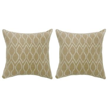"Furniture of America Patrick 22"" Throw Pillow in Beige (Set of 2), , large"