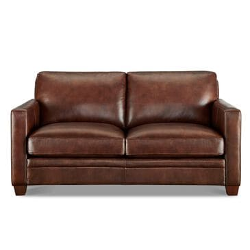 Back Nine Leather Como Leather Loveseat in Cognac Brown, , large