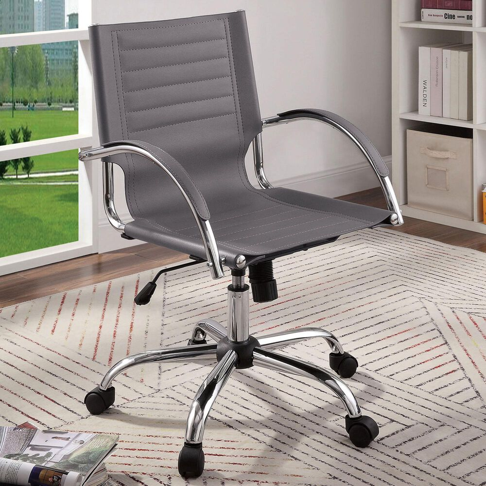 Furniture of America Schwartz Office Chair in Gray, , large
