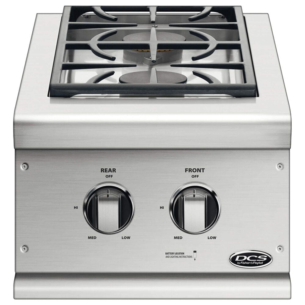 DCS Built-In Natural Gas Double Side Burner in Stainless Steel, , large