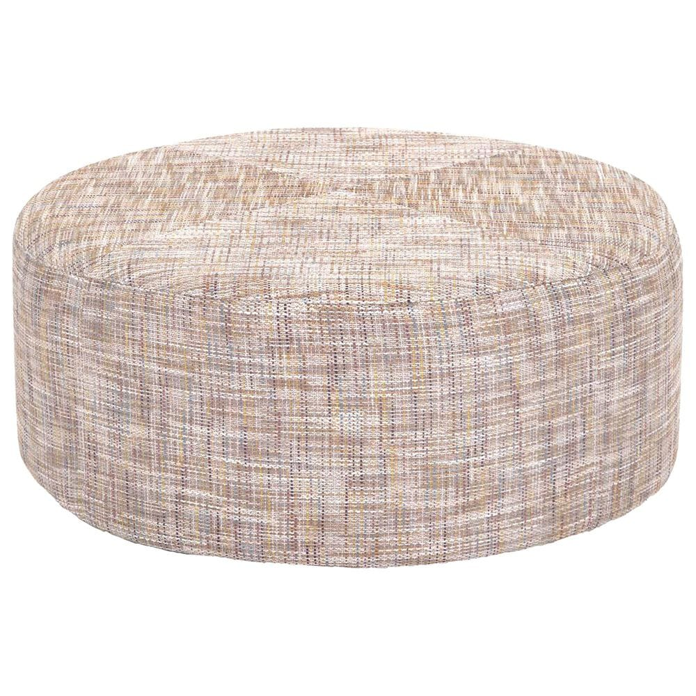 Moore Furniture Round Cocktail Ottoman in Fairyland Cathedral, , large
