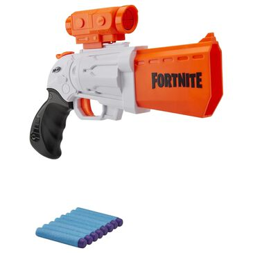Nerf Fortnite SR Blaster Toy with 4-Dart Hammer Action, , large