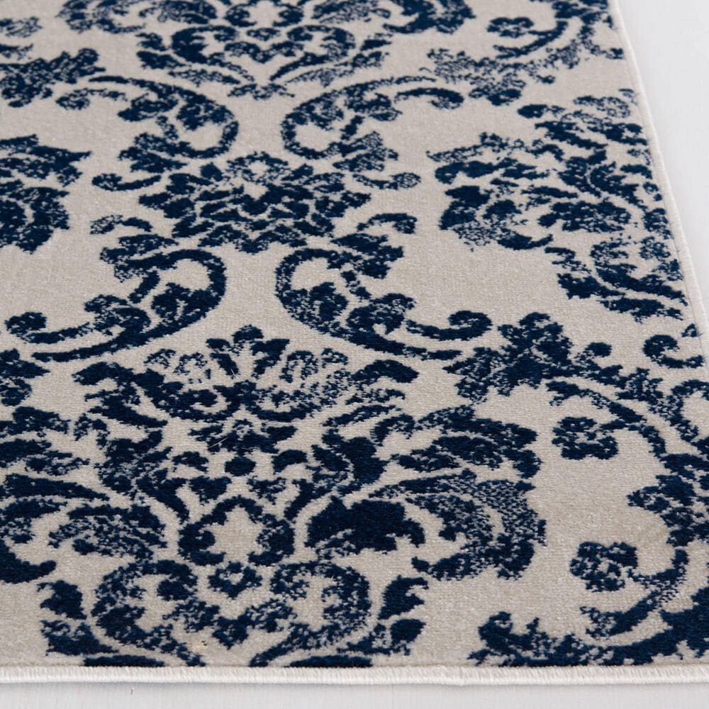"""Central Oriental Terrace Tropic Sea Isle 7'10"""" x 9'10"""" Snow and Sapphire Area Rug, , large"""