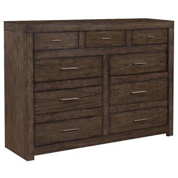 Riva Ridge Modern Loft 9 Drawer Chesser in Brownstone, , large