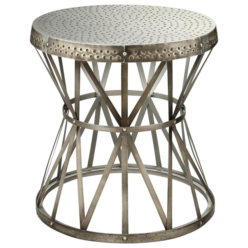 Shell Island Furniture Accent Table in Hammer Antique Nickel, , large