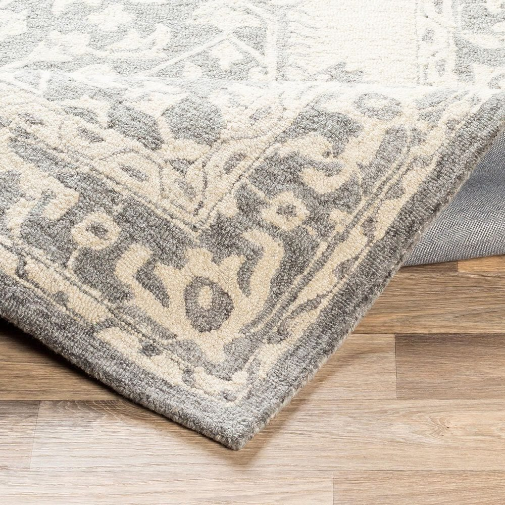 """Surya Granada GND-2307 2'6"""" x 8' Medium Gray, Beige and Charcoal Scatter Rug, , large"""