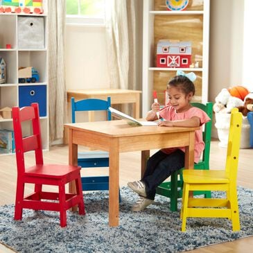 Melissa & Doug Table and 4 Chairs in Primary Colors, , large