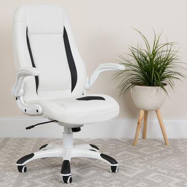 Flash Furniture Flash Fundamentals Executive Swivel Chair in White, , large