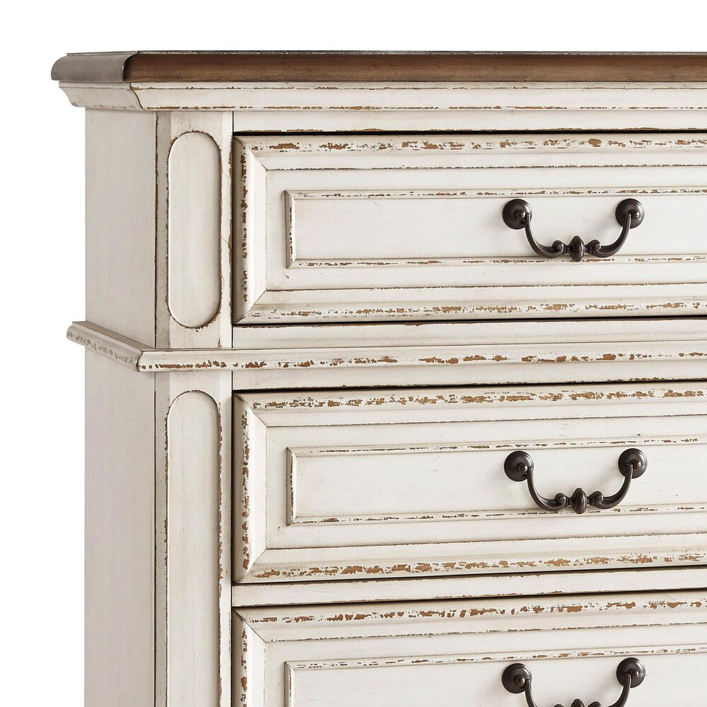 Signature Design by Ashley Realyn Standard Chest in Chipped White, , large