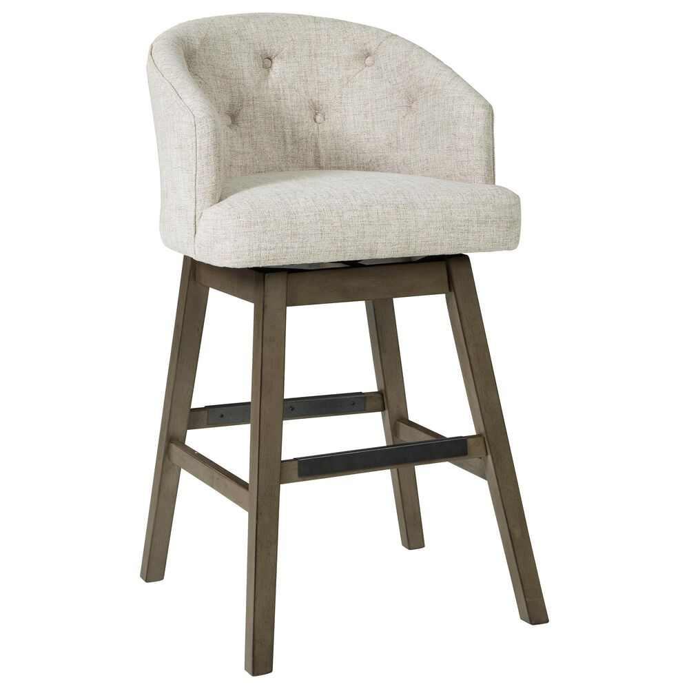 Signature Design by Ashley Tripton Tall Swivel Barstool in Linen, , large