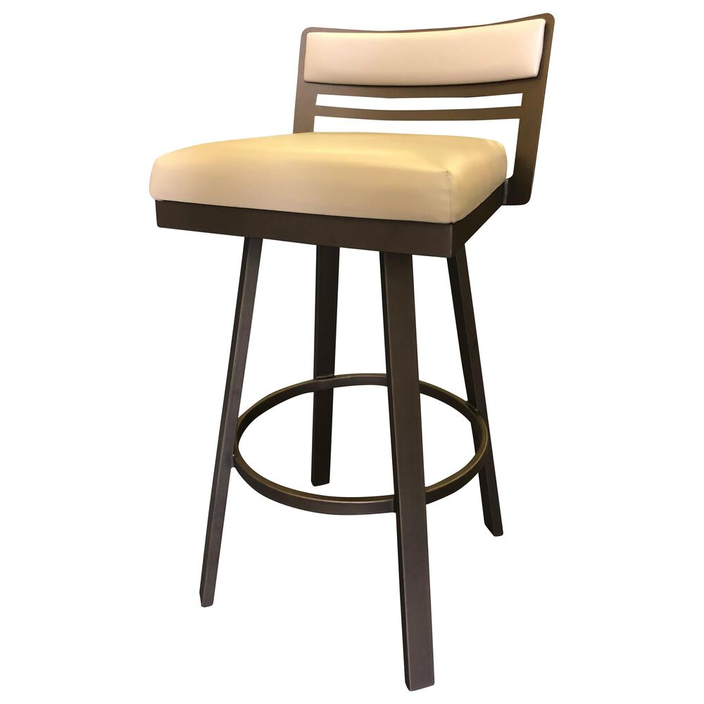"Delaware Dining Carson 30"" Swivel Barstool in Sun Bronze/Cream, , large"