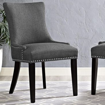 Modway Marquis Fabric Dining Chair in Gray, , large