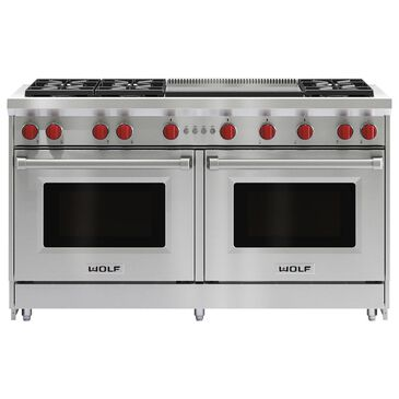 """Wolf 60"""" Professional Gas Range w/Double Griddle, , large"""