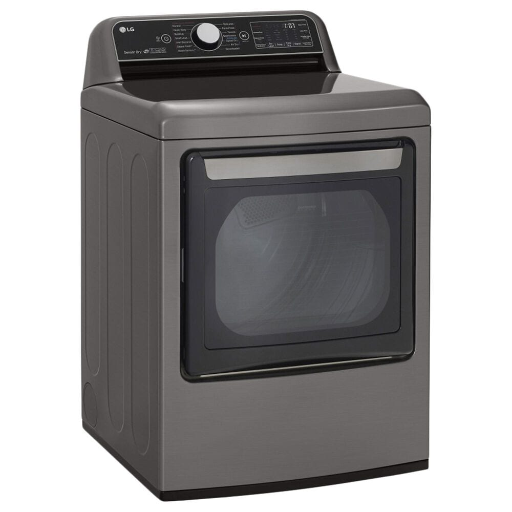 LG 5.5 Cu. Ft. Top Load Washer and 7.3 Cu. Ft. Electric Dryer Laundry Pair in Graphite, , large