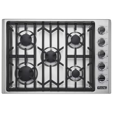 """Viking Range 30"""" Professional Gas Cooktop in Stainless Steel, , large"""
