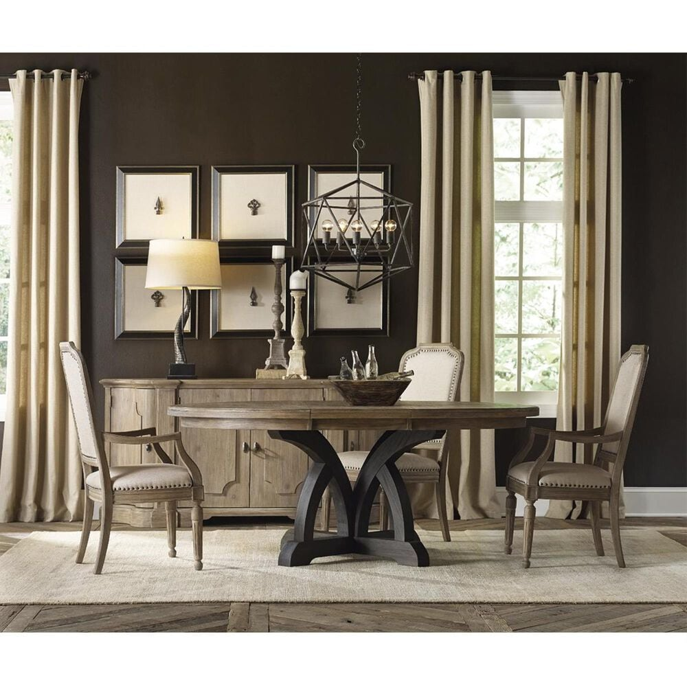 Hooker Furniture Corsica Dining Table with Light Top in Dark Espresso - Table Only, , large