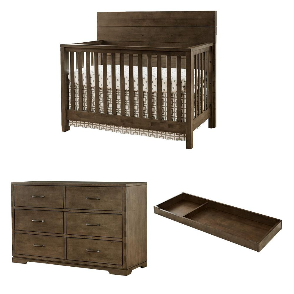 Eastern Shore Dovetail 3 Piece Nursery Set in Graphite, , large