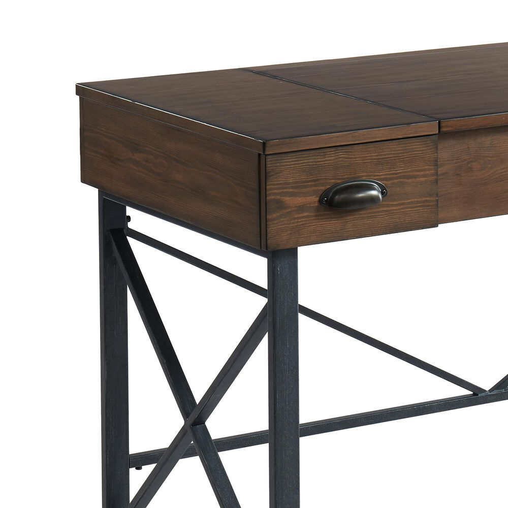 Furniture of America Becker 2-Drawer Desk in Oak, , large