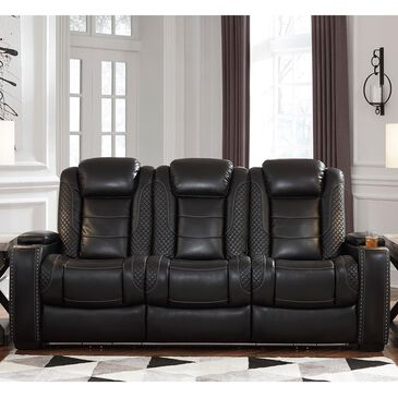 Signature Design by Ashley Party Time Power Reclining Sofa with Power Headrest in Midnight, , large