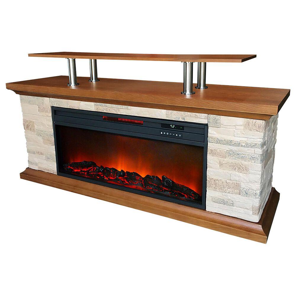 Almo Distributing LifeSmart 60 Inch Media Fireplace, , large