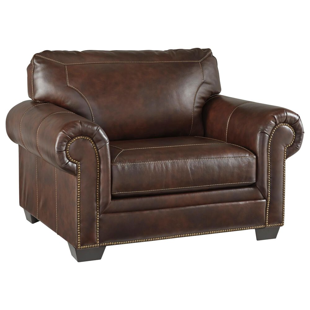 Signature Design by Ashley Roleson Chair and a Half in Walnut, , large