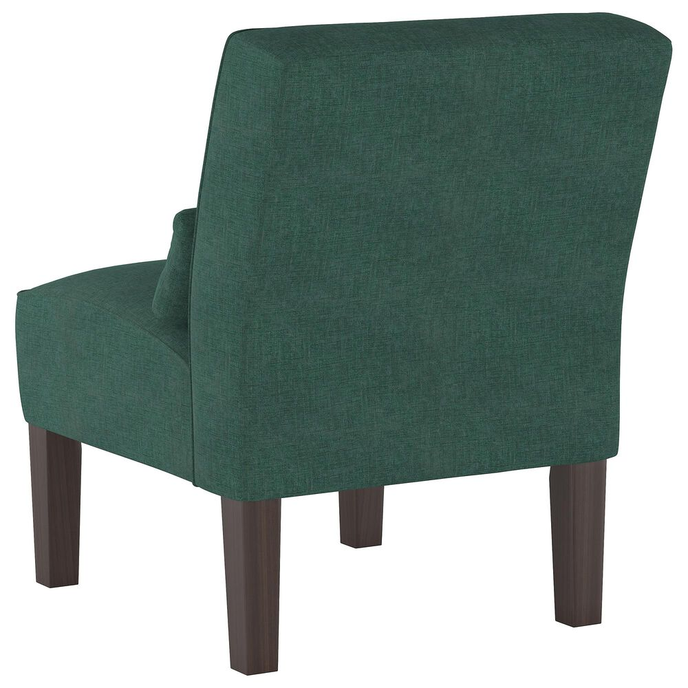Skyline Furniture Armless Chair in Linen Conifer Green, , large