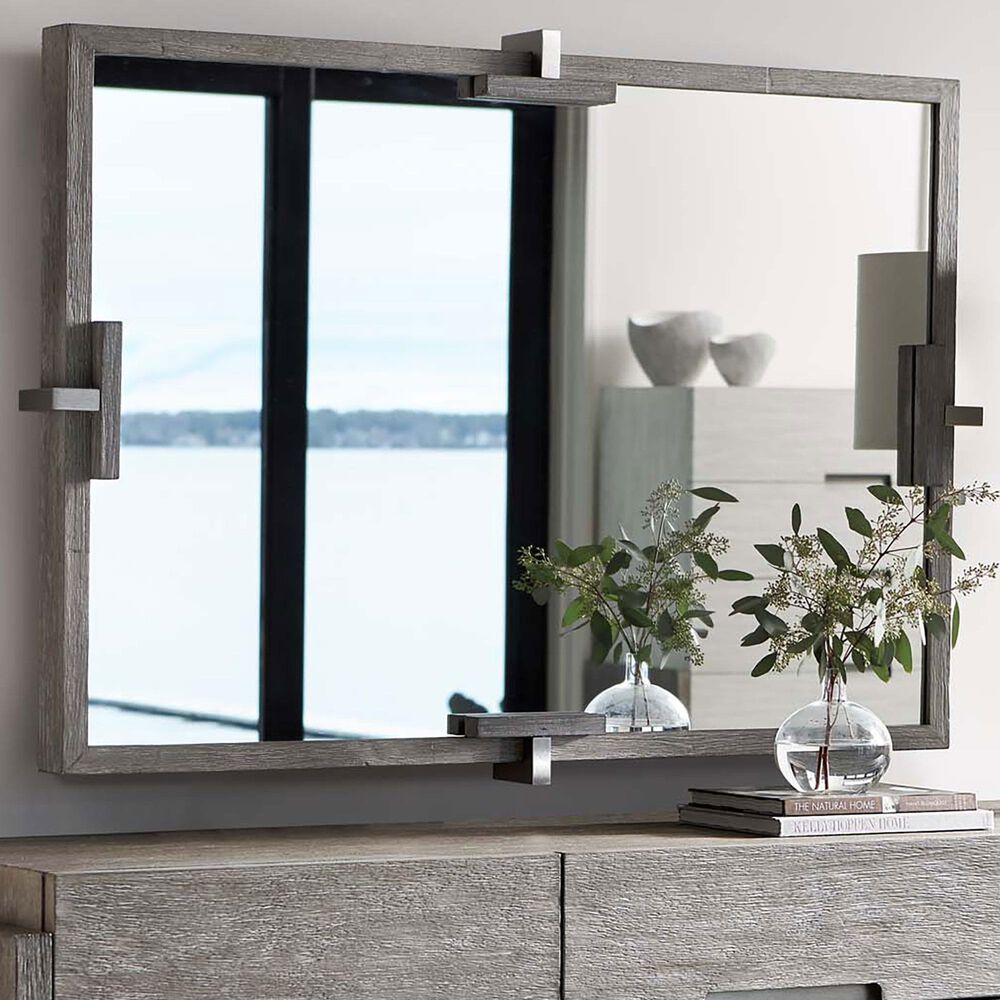 Bernhardt Foundations Mirror in Light Shale and Dark Shale, , large