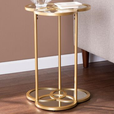 Southern Enterprises Shirland Accent Table in Gold, , large