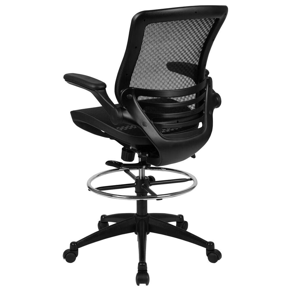"Flash Furniture 49.5"" Drafting Chair in Black, , large"