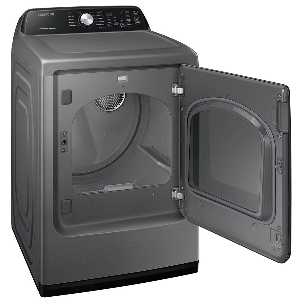Samsung 4.5 Cu. Ft. Top Load Washer and 7.4 Cu. Ft. Gas Dryer Laundry Pair in Platinum, , large