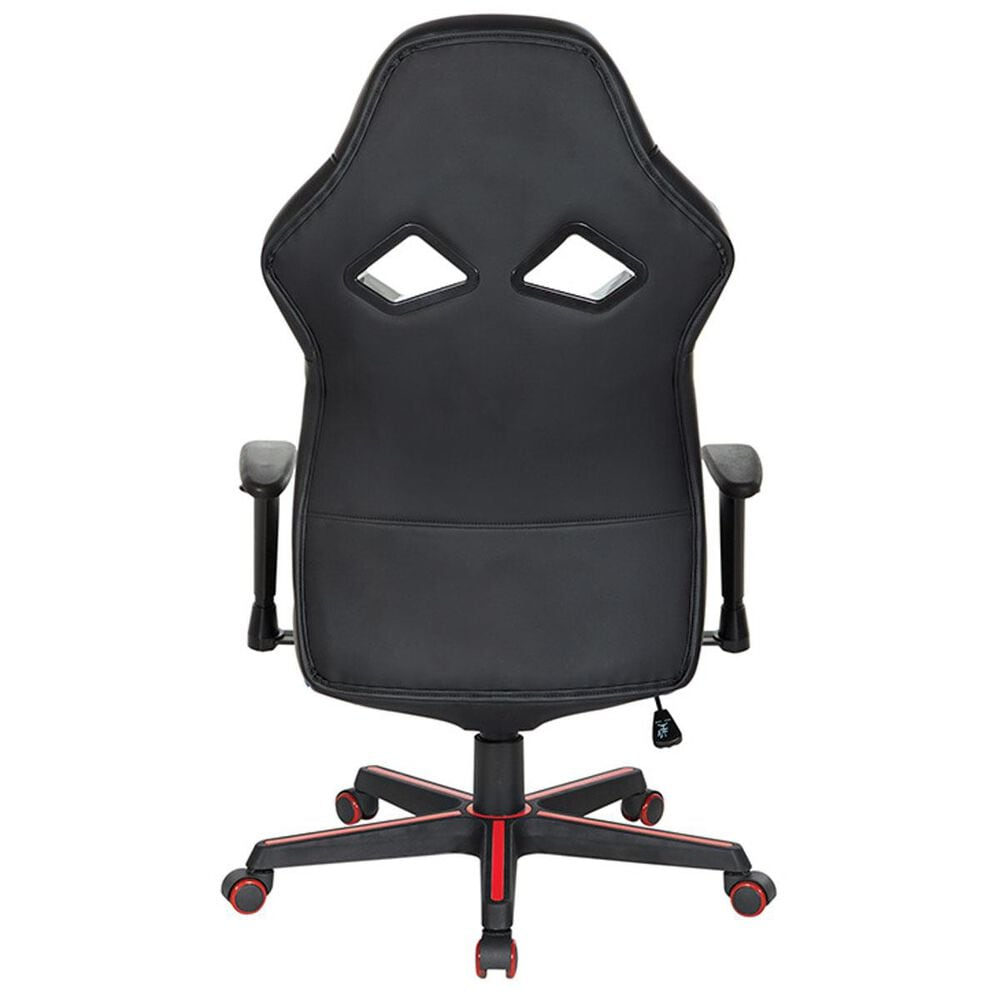 OSP Home Vapor Gaming Chair in Black and Red, , large