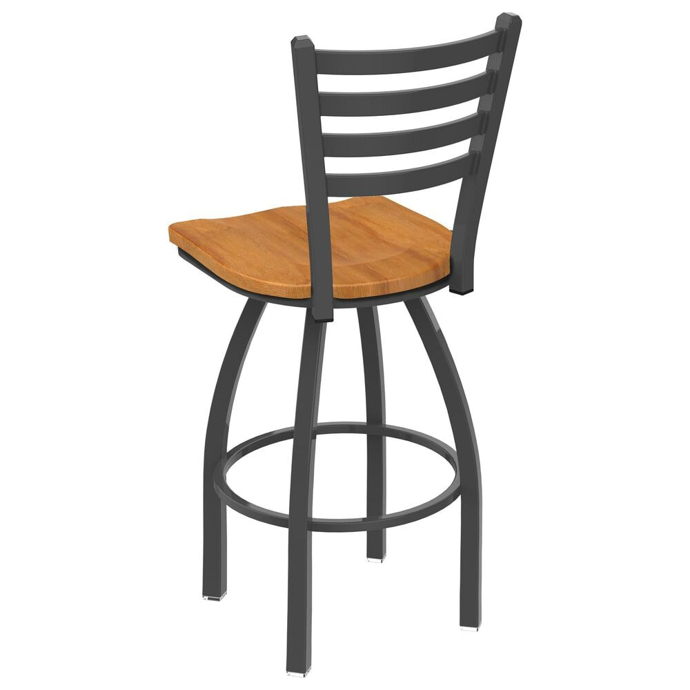 """Holland Bar Stool 411 Jackie 25"""" Low Back Swivel Counter Stool with Pewter and Medium Maple Seat, , large"""