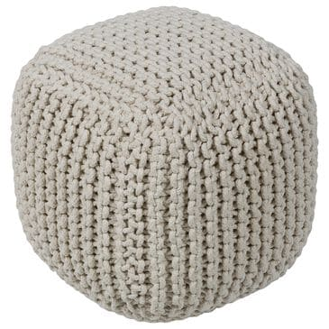 Surya Inc Braga Pouf in Cream, , large