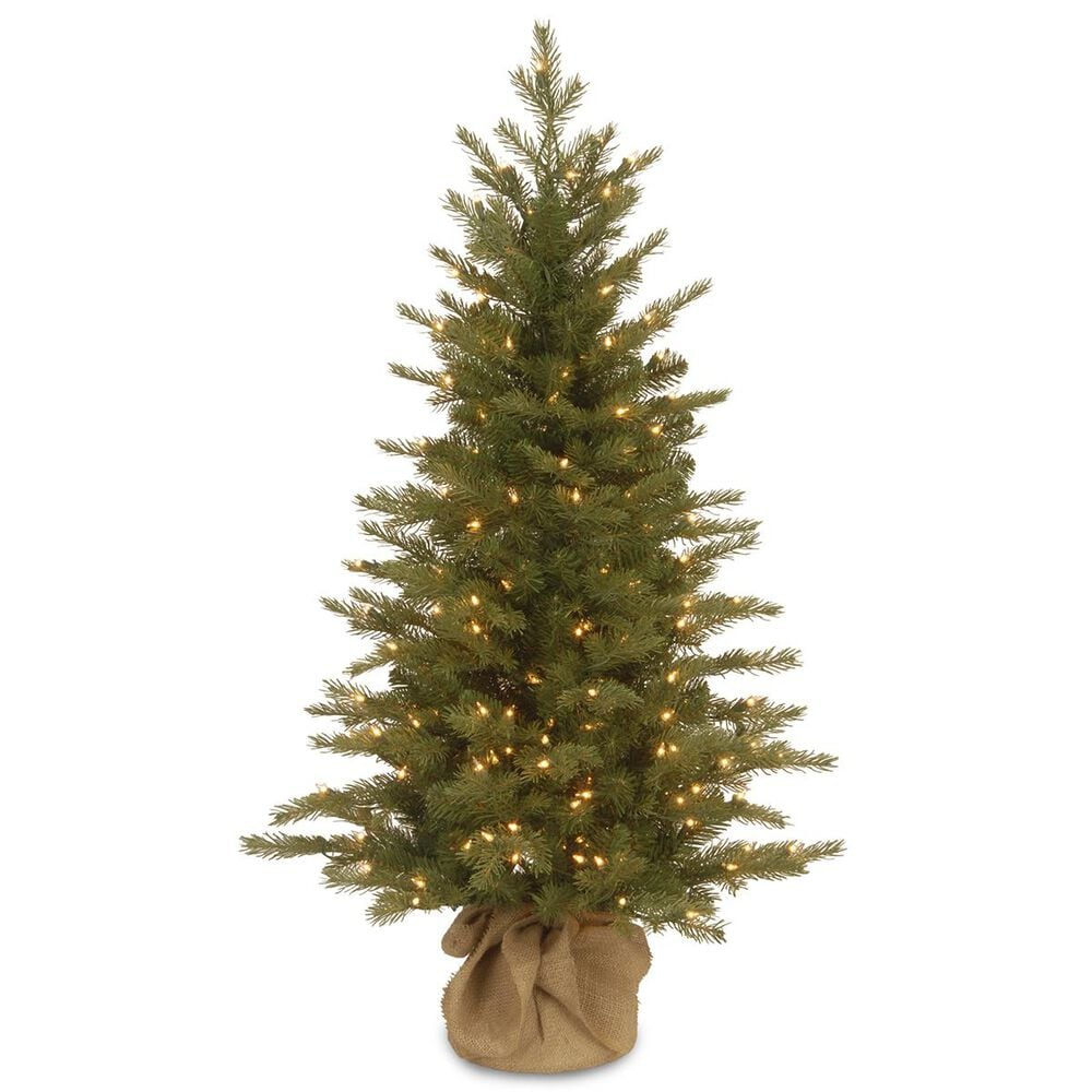 """National Tree 4"""" Nordic Spruce Tree with White Lights, , large"""