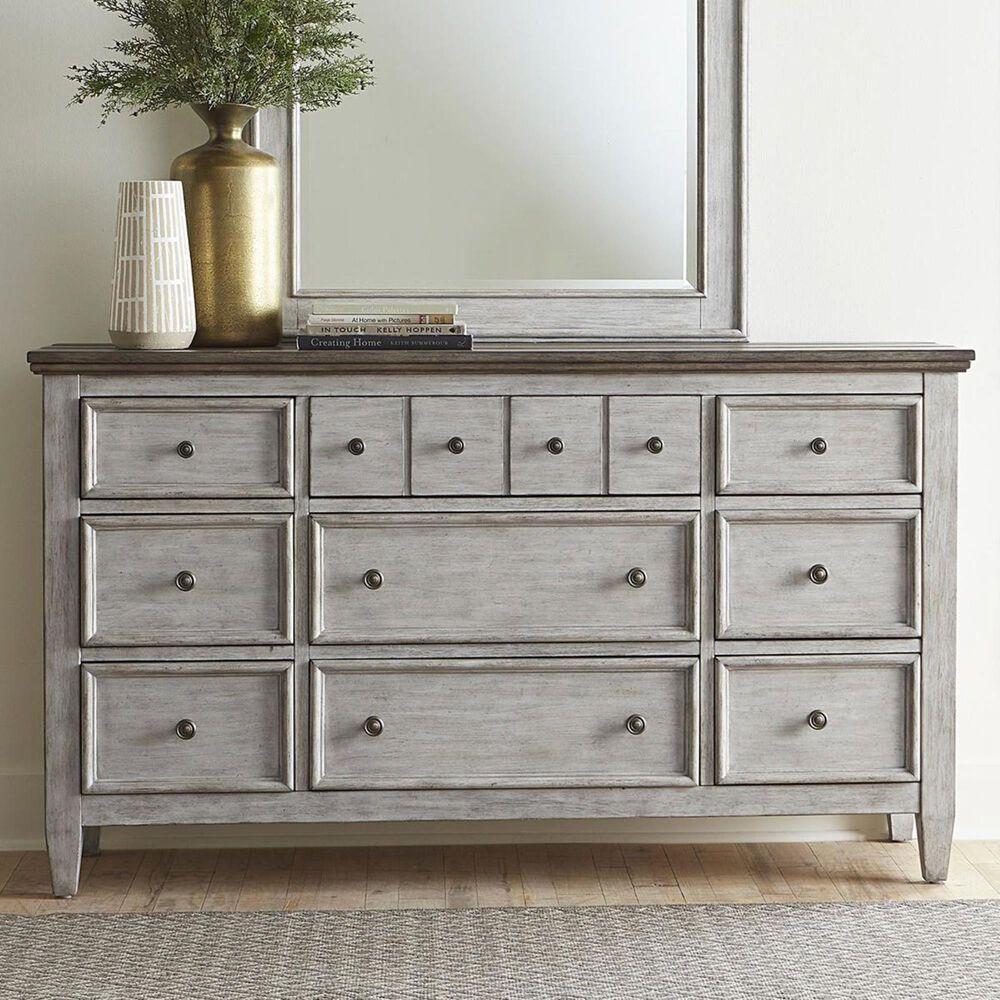 Belle Furnishings Heartland 9 Drawer Dresser in Antique White, , large