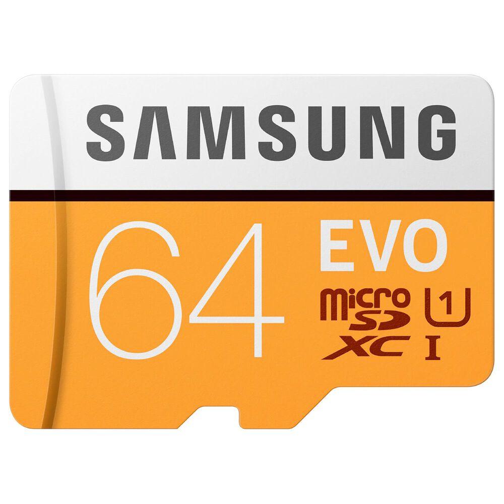 Samsung 64GB EVO microSDXC Memory Card, , large