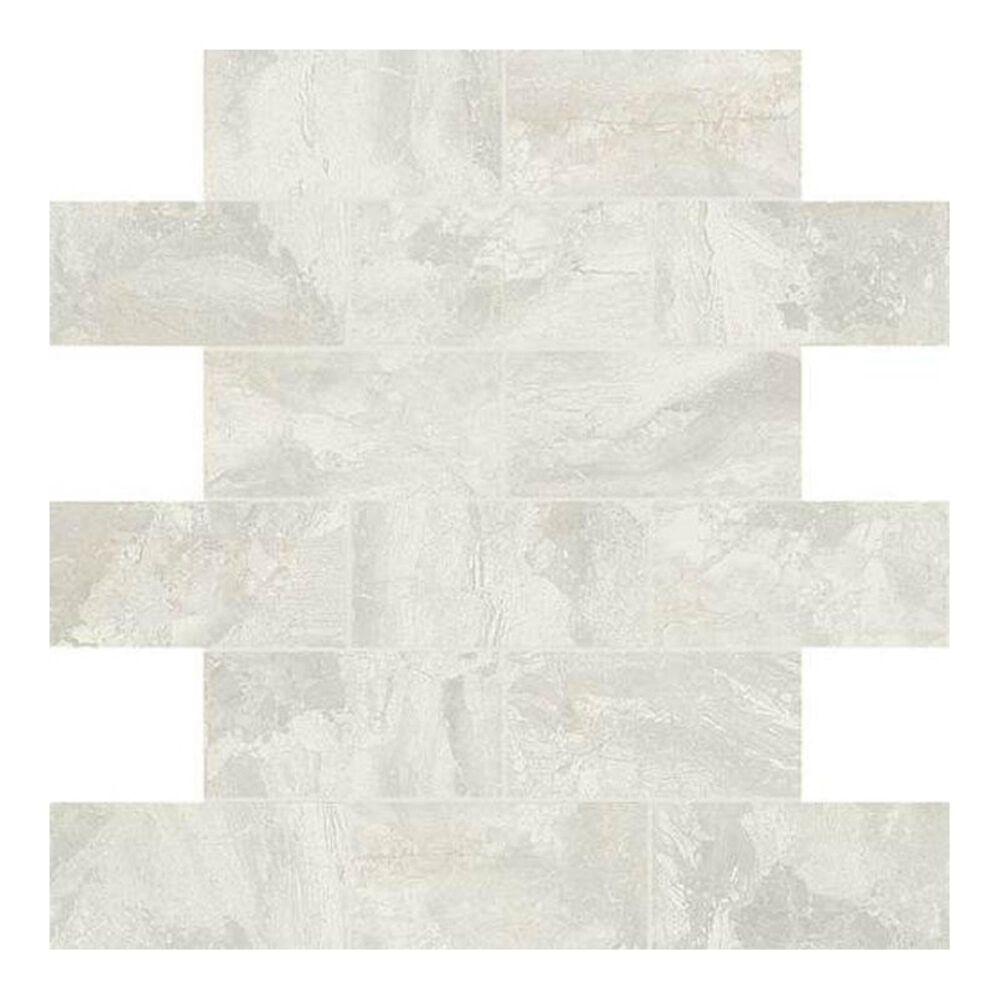 """Dal-Tile Marble Falls White Water 12"""" x 12"""" Ceramic Mosaic Sheet, , large"""