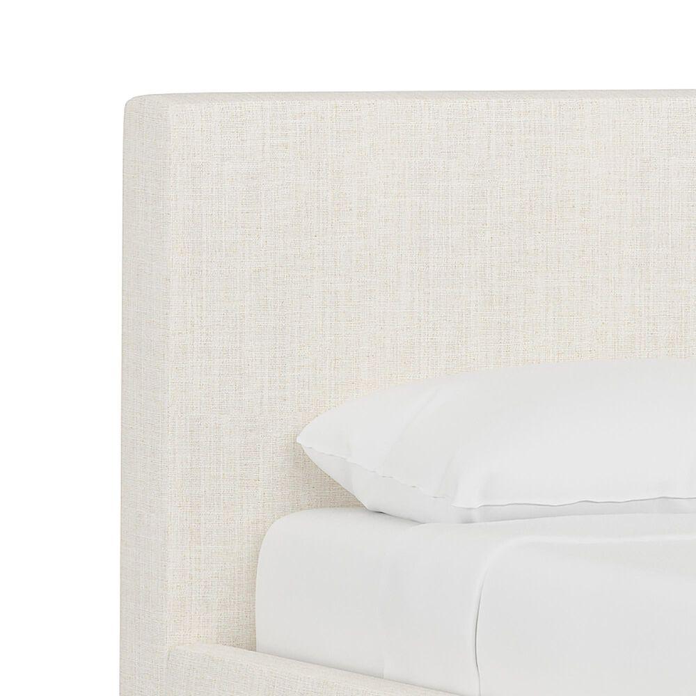 Skyline Furniture Upholstered Full Platform Bed in Linen Talc, , large