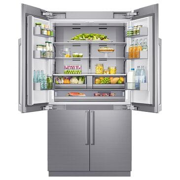 """Dacor 42"""" 4-Door French Door Refrigerator in Stainless Steel, , large"""