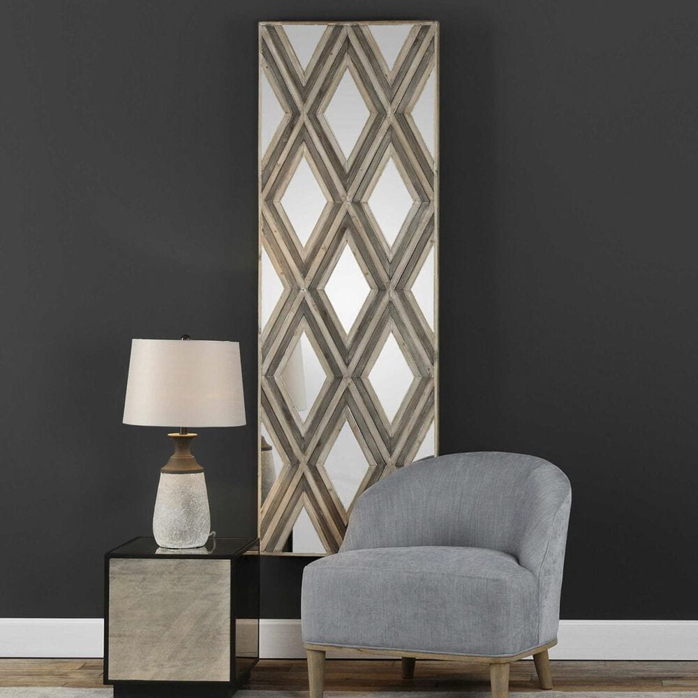Uttermost Tahira Wood Wall Decor in Ivory and Chestnut Gray, , large