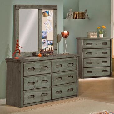 Timber Point Bunkhouse 6 Drawer Dresser in Driftwood, , large