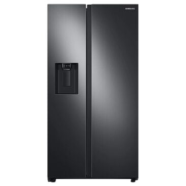 Samsung 22 Cu. Ft. Counter Depth Side by Side Refrigerator in Black Stainless Steel, , large