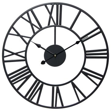 Infinity Instruments Tower Wall Clock in Black, , large