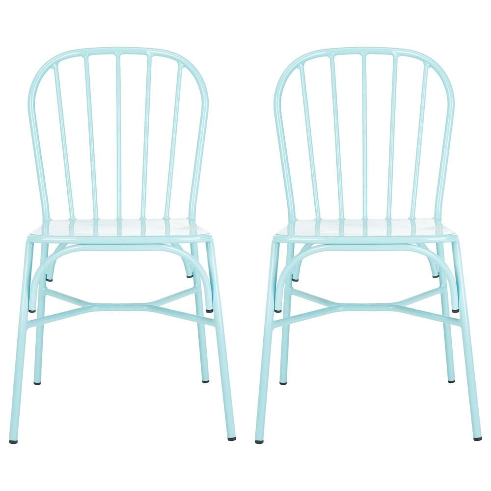 Safavieh Everleigh Stackable Side Chair in Blue, , large